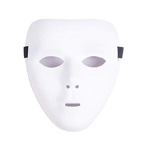 HARBORII Halloween Mask - Street Dance - Hip Hop - Funny - White Mask