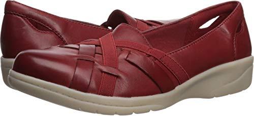 CLARKS Women's Cheyn Creek Loafer red Leather 075 M US ()