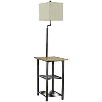 Lamp Table Combination Floor Lamp Table With Shelves And