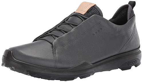 ECCO Men's Biom Hybrid 3 Gore-Tex Golf Shoe, Dark Shadow Open lace, 10 M US
