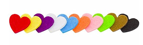 Timeline Treasures Felt Heart Cutouts, Set of 20 Felt Wool Embellishments