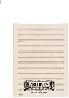 D'Addario D12S Doppelseitige Notenblätter (12 Notenbalken, 24 Blatt)