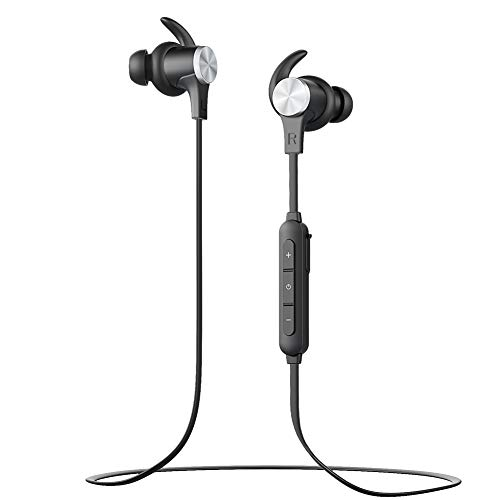 Bluetooth Headphones, Wireless Bluetooth 4.1 Aptx Stereo Magnetic Earbuds Snug Fit for Sports with Built in Mic BT-519 Earphone(7 Hours Playtime, IPX5 Waterproof, CVC 6.0 Noise Cancelling Microphone)
