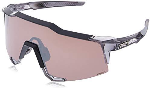 Grey Chrome Lens - 100% Unisex-Adult Speedlab (61001-253-76) Speedcraft-Polished Translucent Crystal Grey-HiPER Silver Mirror Lens (Gray, Free Size)