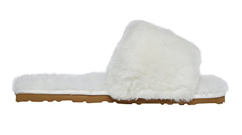 SLPR SLPR white Womens Sheepskin Womens Off Slippers Sheepskin Slide Slide SRRnxBd