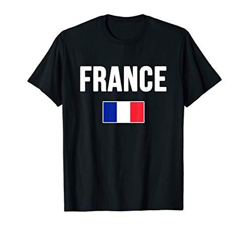 France T-shirt French Flag Souvenir Love Gift ()