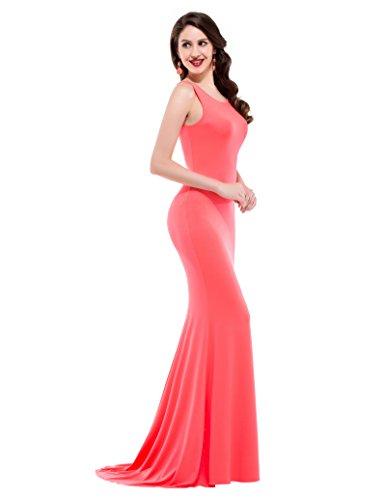 Womens Plain Sleeveless Bodycon Long Cocktail Dresses M CL9648-2