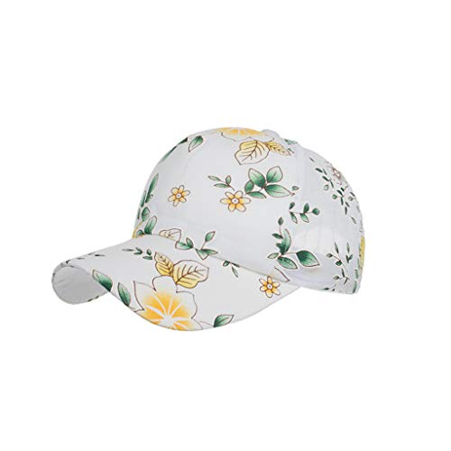 Hats Cap Unisex Classic Flower Pattern Cotton Baseball Cap Sun Hat Adjustable Plain Caps Yellow