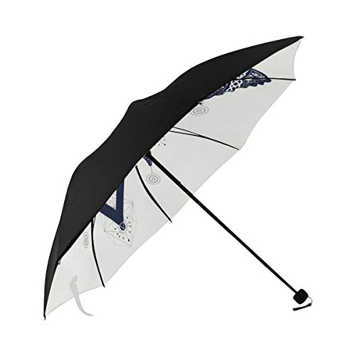 Umbrella Butterfly Tattoo Art Celtic Style Mystical Underside Printing Compact Travel Sun Umbrella Parasol Anti Uv Foldable Umbrellas With 95% Uv Protection For Women Men Lady - Butterfly Celtic Tattoos