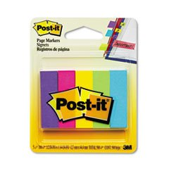 ** Page Markers, Five Assorted Ultra Colors, 5 Pads of 100 Strips/Pack