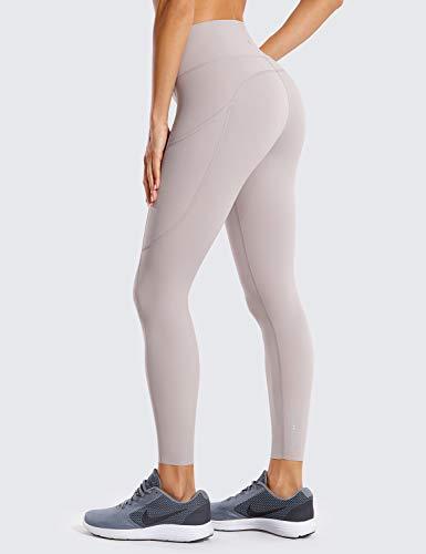 CRZ YOGA Mujer Naked Feeling Leggings Deportivas Cintura Alta Yoga Fitness Pantalones con Bolsillo-63cm