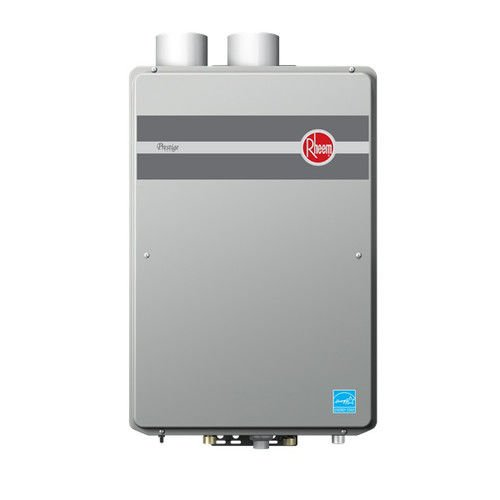 Rheem RTGH-95DVLN 9.5 GPM Indoor Direct Vent Tankless Natural Gas Water Heater - Gas Manual Vent