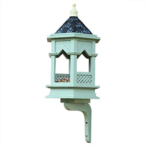 BLRYP Wild Bird Seed Feeder Bird Feeding Station Classical Gothic Bird Feeders, Bird Pavilion Rainproof Feeding Table Landscape Gardening Nut,Fat Ball,Cage,Garden