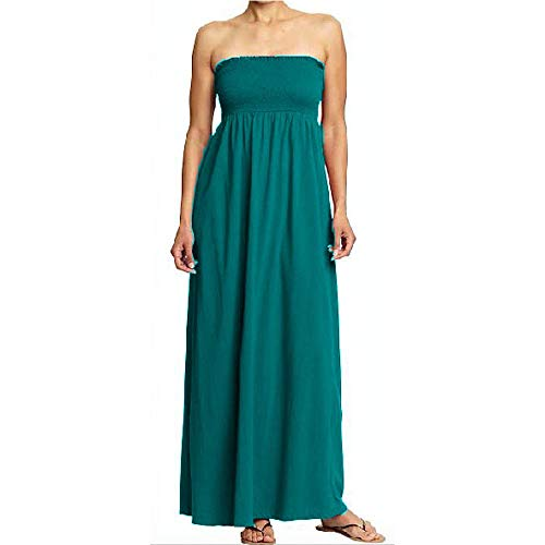 Strapless Smocked Tube Maxi Dress - Women