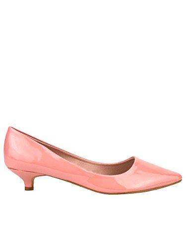 7707e4f466c587 Cendriyon, Escarpin Verni Rose Petit Talon MILANA Chaussures Femme Taille 41