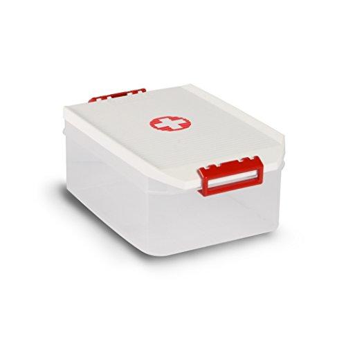 Tatay 1150110 Caja Botiquín Grande Primeros Auxilios Con Tapa, Blanco, 14 Litros: Amazon.es: Hogar