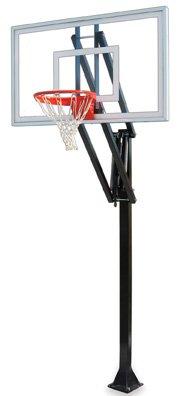 最初チームベクトルnitro-bp steel-glass in ground調整可能バスケットボールsystem44、ブラック B01HC0BY14