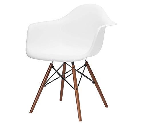 Pоly & Bаrk Vortex Arm Chair Walnut Leg, White