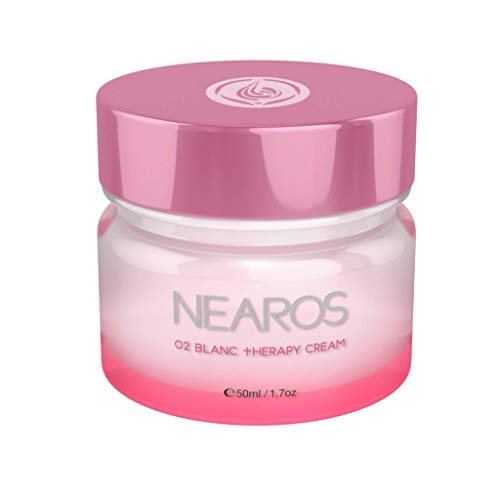 NEAROS Anti Aging Skin Whitening Face Cream - Fullerene Nobel Prize Proven Anti Oxidation Ingredient (1.7oz/50ml)