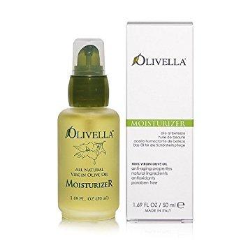 Olivella All Natural Virgin Olive Oil Moisturizer For All Skin Types 1.69 oz (Pack of 2)