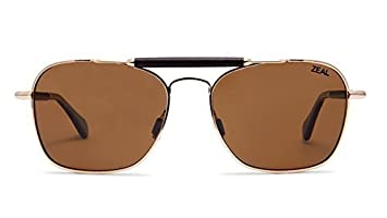 a7235377c2 Image Unavailable. Image not available for. Colour  Zeal Optics Draper  Polarized Sunglasses - Polished Gold Frame with Copper Lens ...