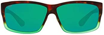 Costa Del Mar Men's Cut Rectangular Sunglasses