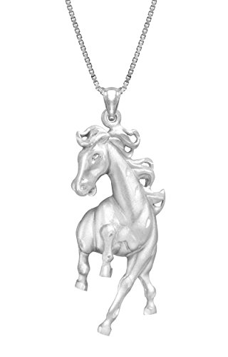 Sterling Silver Prancing Necklace Pendant