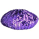 tm! Sequin Beret - Purple (One Size)