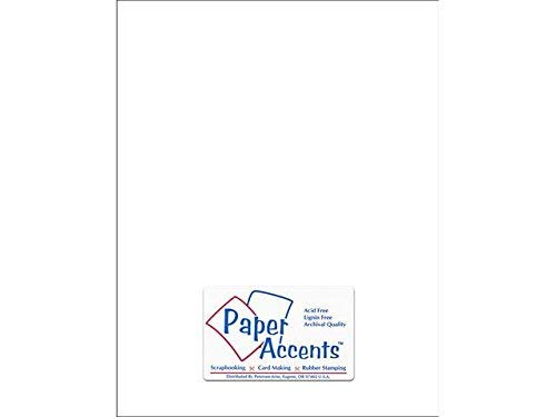 Accent Design Paper Accents adptx8511 – 25.128 Lite Stock 8.5 x 11' cartulina Blanca