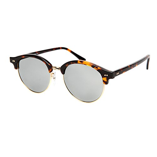 Clubmaster Classic Square Sunglasses Silver Flash Lense - 4