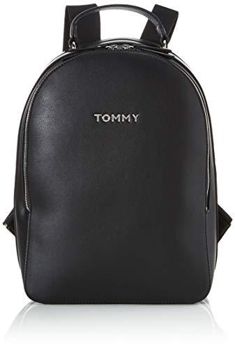 Tommy Hilfiger Damen Tommy Staple Dome Backpack Rucksack, Schwarz (Black), 1x1x1 cm