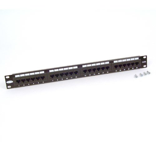 BELKIN F4P338-24-AB5 Belkin 24-Port Cat5 568A/568B Patch Cable Panel with Cable Rings by Belkin