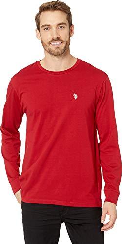 U.S. Polo Assn. Men's Long Sleeve Crew Neck T-Shirt, Apple Cinnamon, L