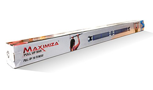 Maximiza Pull Up Bar Doorway Pullup Bar / Chinup Bar with 3 Sets of Screw in Door Mounts