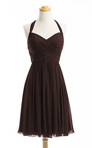 Brown Halter Dress - 4