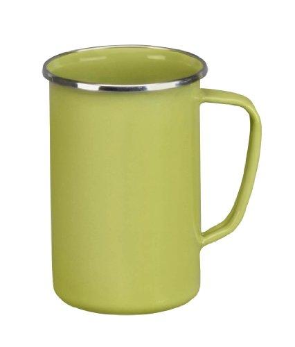 Cinsa 312032 Trend Ware Enamel on Steel Tall Coffee Mug, 20-Ounce, Green Tea