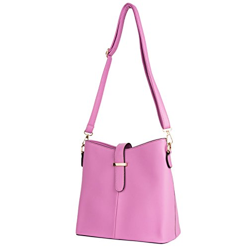 Women Bags Lady Leather Faux Crossbod Studded Dancing Party Bag Shoulder Style Pink rrqdxw7v
