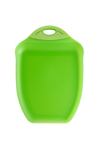 - Dexas Chop & Scoop Cutting Board, 9.5 by 13 inches, Solid Green