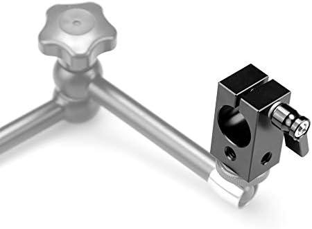 XIANYUNDIAN Black Camera Single Railblock 19mm Rod Clamp DSLR Rig W//Four 1//4 Threads Wingnut Camera Mounts Clamps Color : Black
