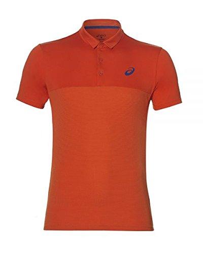 ASICS Polo Padel Rojo 141166 0516: Amazon.es: Deportes y ...
