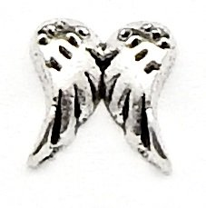 (Cherityne Silver Toned Angel Wings Floating Charm for Locket Pendants)