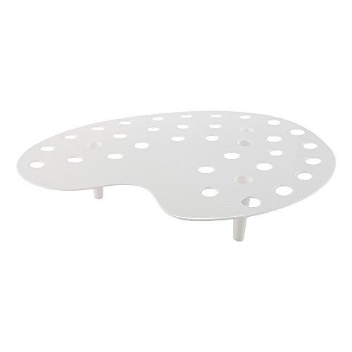 - Mini Cone Stand - Palette Display Stand - White Premium Plastic - 35 Slots - 4ct Box - Restaurantware