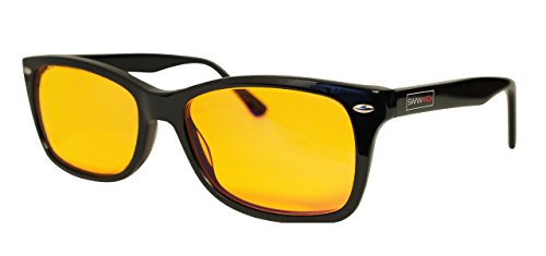 Blue Light Blocking Glasses - FDA Registered Gamer Glasses and Computer Eyewear for Deep Sleep - Digital Eye Strain Prevention - (Regular) - Bonus Book