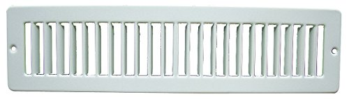 Industrial Grade 4MJD3 Toe Space Grille, 2x10, White