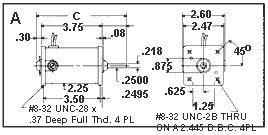 DC Mtr, PM, TENV, 1/44 HP, 1800rpm, 12/24VDC