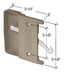Cr Laurence Stone Sliding Screen Door Latch and Pull with...