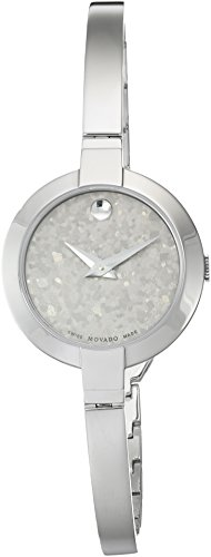 Movado Women's Swiss Quartz Stainless Steel Casual Watch, Color:Silver-Toned (Model: 0607017) - Silver Museum Dial