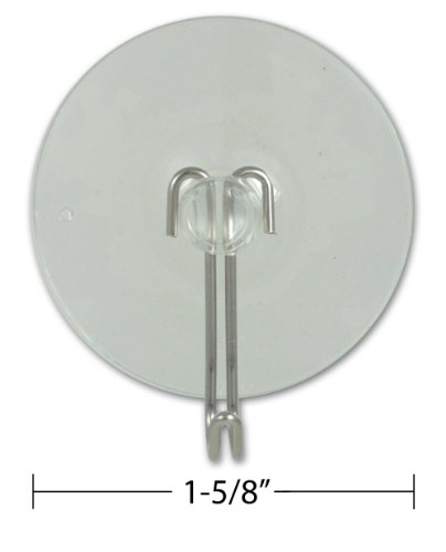 """Suction Cup with Hook 1-5/8"""" Diameter Best Seller Pack of 12 Pcs"""