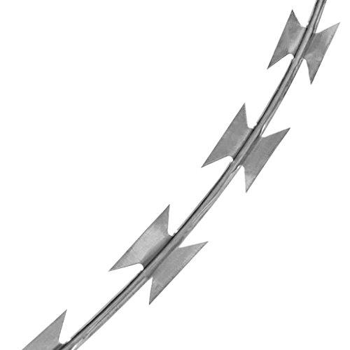vidaXL 12'' Razor Wire/Helical Barbed Wire Galvanized Steel 1 Coil 197 Feet Coverage by vidaXL (Image #4)