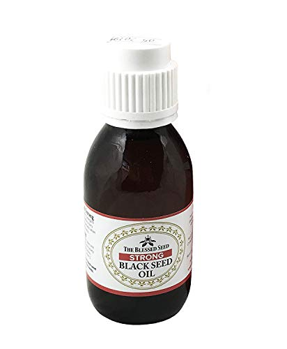 The Blessed Seed Strong Black Seed Oil 100ml (Non-GMO, No Pesticide, No Herbicide) Made from Slowly Cold Pressing The Strongest Nigella Sativa Seeds Producing 100% Pure Black Cumin Seed Oil